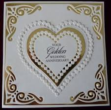 50th wedding anniversary greetings handcrafted by helen 3 golden wedding anniversary cards