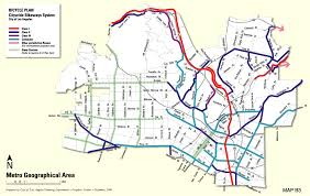 La County Map City Of Los Angeles General Plan Transportation Element Bicycle