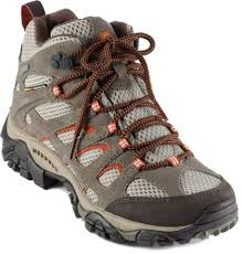 womens boots hiking merrell moab mid waterproof hiking boots s rei com