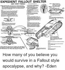 Fallout Kink Meme - expedient fallout shelter car over trench toolsano materials car