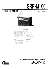 sony srfm100 service manual immediate download