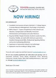 Send Your Resume At Toyota Silang Job Openings Posts Facebook