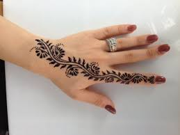 fantastic henna tattoo on left hand