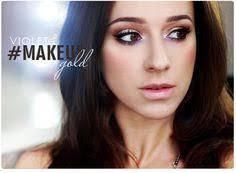 alina rose makeup makijaż złoto i fiolet z kreską