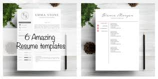 amazing resume templates 40 best 2018 s creative resume cv templates printable doc