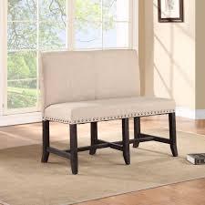bench upholstered settee bench tobeknown garden bench