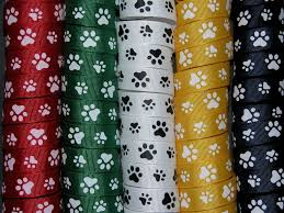 paw print ribbon 5 yards 5 8 paw print grosgrain ribbon