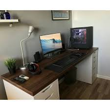 Console Gaming Desk Console Gaming Setup Desk With Decorations 11