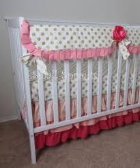 Crib Bedding Separates Pink Blue Roses Bouquet Blue Dot Pink Baby Crib Bedding