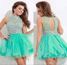 luxury short mint green homecoming dresses 2016 a line tulle