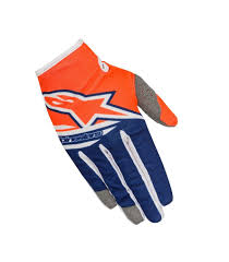 alpinestar motocross gloves 2018 alpinestars techstar factory orange blue white motocross gear
