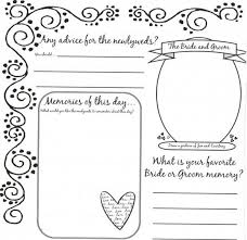 wedding guest book pages leaving their