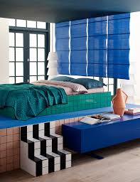 80sdeco square tile steps platform bed frame clay kora vase