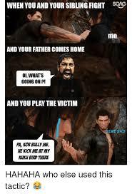 Fighting Memes - 25 best memes about siblings fighting siblings fighting memes