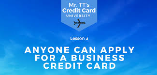 how anyone can apply for a business credit card