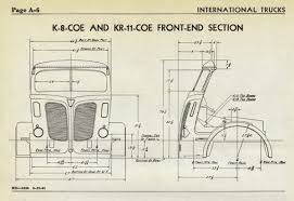 international k 8 coe truck chassis diagram drawing wisconsin