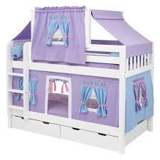 shot twin over twin deluxe tent bunk bed mxtx149