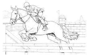 jumping horse coloring pages