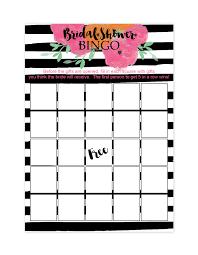 free bridal shower free printable bridal shower bingo