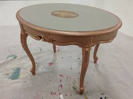 Paint Wood Furniture by Making A Rose Gold Metallic Furniture Paint Mother Couture Paints