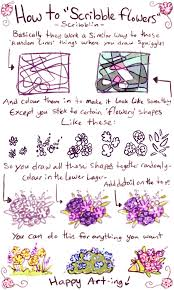 Flowers By Violet - how to draw scribble flowers by scribblin on deviantart