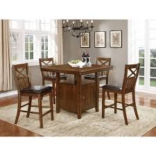 wood counter height table nathaniel home bryson collection brown wood counter height dining