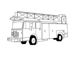 truck coloring pages pickup printable fire colouring print free