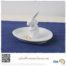 ceramic rabbit ring holder images Grace easter bunny rabbit ring holder plate ceramic decor jpg