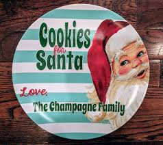 keepsake plates cookies for santa plate personalized gift plate or