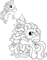pony christmas coloring pages download print free
