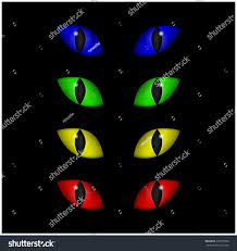 halloween spooky eyes vector set isolated stock vector 330715505