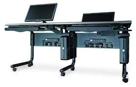 A Computer Desk What Is A Computer Desk For Dual Monitors Quora