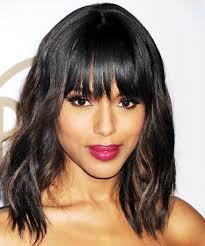kerry washington hair pin up kerry washington heart gorgeous bangs for every face shape