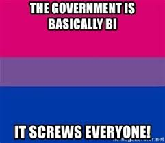 Bisexual Memes - the government is basically bi it screws everyone bisexual