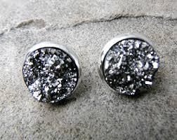 druzy stud earrings druzy stud earrings etsy