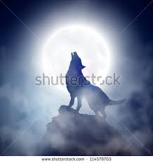 wolf howling moon eps 10 stock vector 114579703