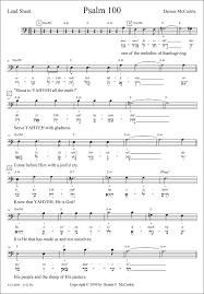 psalm 100 a note for note transcription from the hebrew texts