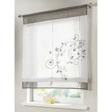 gardine küche gardinen blumen küche grau bestickt voile transparent 1er pack