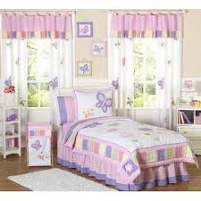 sweet jojo designs butterfly pink and purple collection 4pc twin