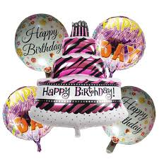 helium birthday balloons 5 pieces birthday cake foil balloons helium balloon globos