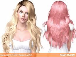 custom hair for sims 4 j183 titanium hairstyle retextured by sims hairs