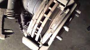 easy front brake pad replacement mazda 626 youtube