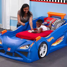 this kid u0027s car bed will make the transition from a crib easy and