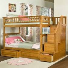 Schoolhouse Collection TwinTwin Stair Bunk Bed In White - Simply bunk beds