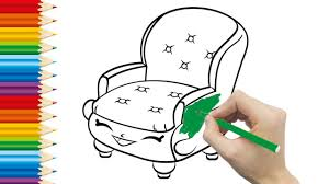 Sofa Drawing by Sofa Coloring Pages For Kid And Learning How To Draw Sofa Videos