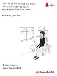 Queensland Memes - don t sit in the white man s seats queensland rail etiquette