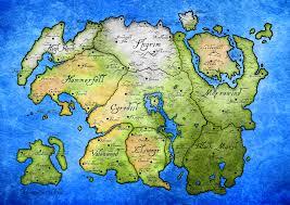Elder Scrolls World Map by Morrowind Beautification Project
