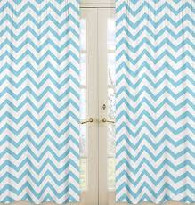 Large Print Curtains Turquoise Blue White Large Chevron Print Zig Zag Window Curtains