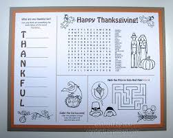 the best thanksgiving placemats rustic baby chic