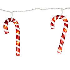 kurt adler halloween kurt adler 35 light 7 in red and white candy cane light set onspree